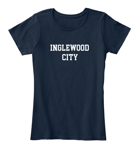 Inglewood Hometown New Navy T-Shirt Front