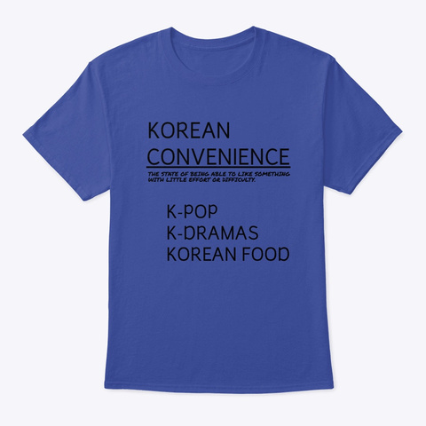 Korean Convenience Merchandise Deep Royal T-Shirt Front