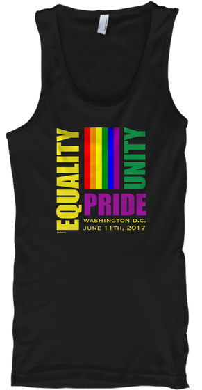 Equality March 2017   Washington Dc Black Tank Top Front