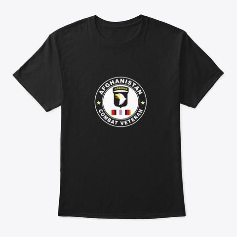 101st Airborne Division Oef Combat Black T-Shirt Front