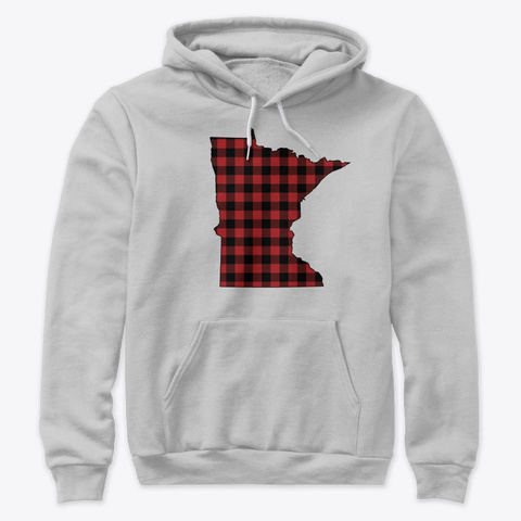 Minnesota   Home State   Buffalo  Plaid Athletic Heather T-Shirt Front