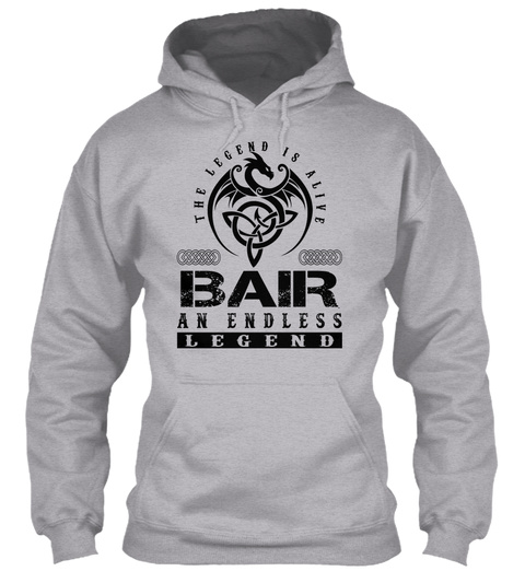 Bair   Legends Alive Sport Grey T-Shirt Front