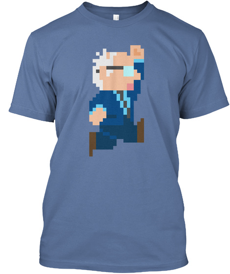 Super Bernie Denim Blue T-Shirt Front