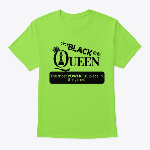 Black Queen Lime T-Shirt Front