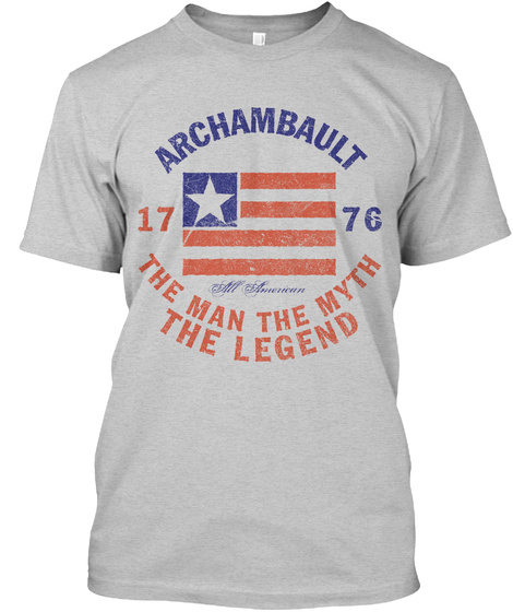 Archambault American Man Myth Legend Light Steel T-Shirt Front