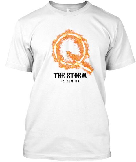 Q Anon Art Storm The Great Awakening White T-Shirt Front