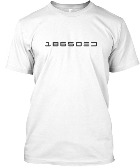 18650 White T-Shirt Front