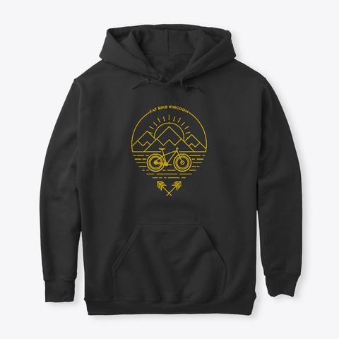 Mtb Inspired   Fat Bike Kingdom | Gold Black T-Shirt Front