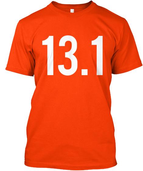 13.1 Orange T-Shirt Front