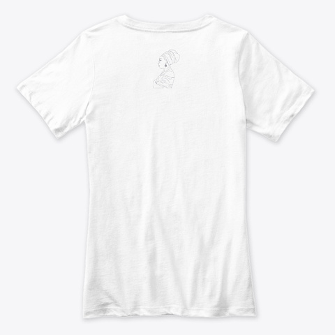 African Woman White T-Shirt Back