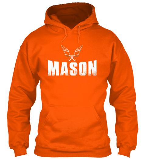 Mason Safety Orange T-Shirt Front