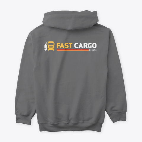 Fast Cargo Esp   Hoodie [Grey] Dark Heather T-Shirt Back