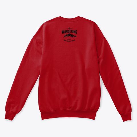 Merry Wandering Christmas Deep Red  T-Shirt Back