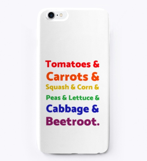 Rainbow List Of Vegetables Standard T-Shirt Front