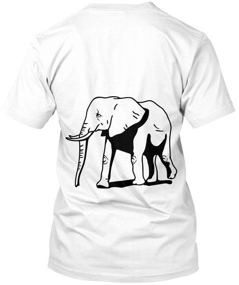 Picklerick White T-Shirt Back