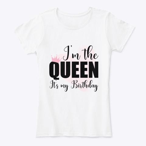Queen Birthday White T-Shirt Front