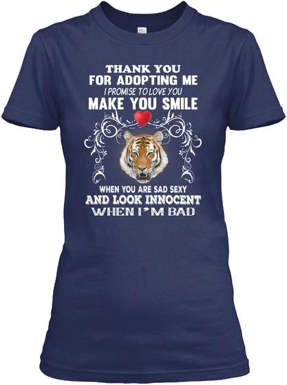 Tiger Make You Smile Navy T-Shirt Front