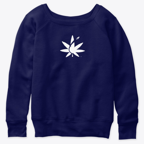 Cannabis Space Coast Navy  T-Shirt Front