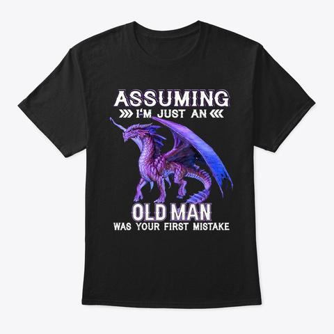Assuming   Old Man Black T-Shirt Front