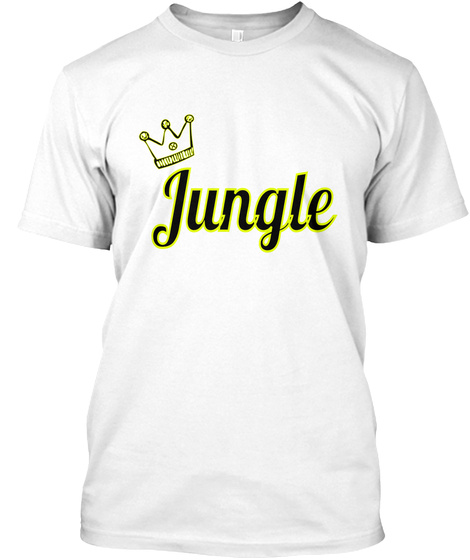 Jungle  White T-Shirt Front