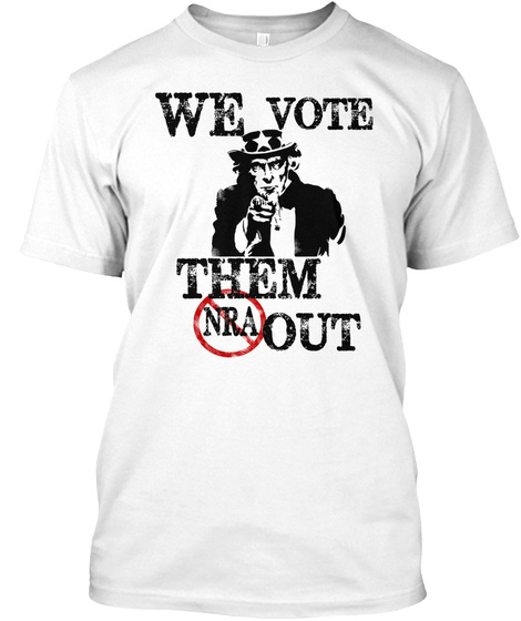 Uncle Sam Vote Them Out White T-Shirt Front
