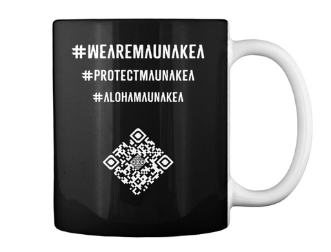 #We Are Mauna Kea   Designed By Sylvia M. Black T-Shirt Back