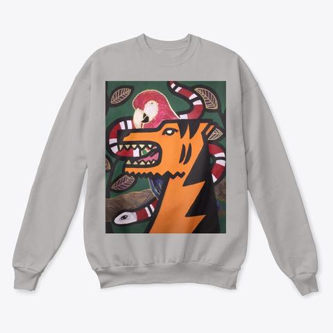 Tiger Crewneck Light Steel  T-Shirt Front