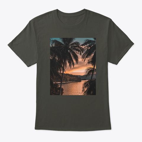Las Palmas. Smoke Gray T-Shirt Front