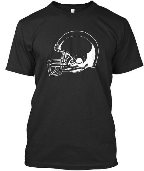 T Shirt Football Players Sports Shirt Black T-Shirt Front