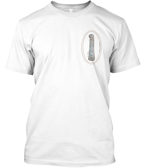 Bethany Beach Totem Pole White T-Shirt Front