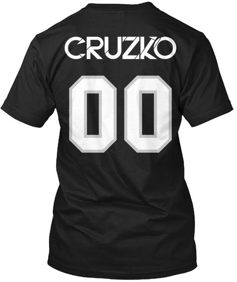 Cruzko 00 Black T-Shirt Back