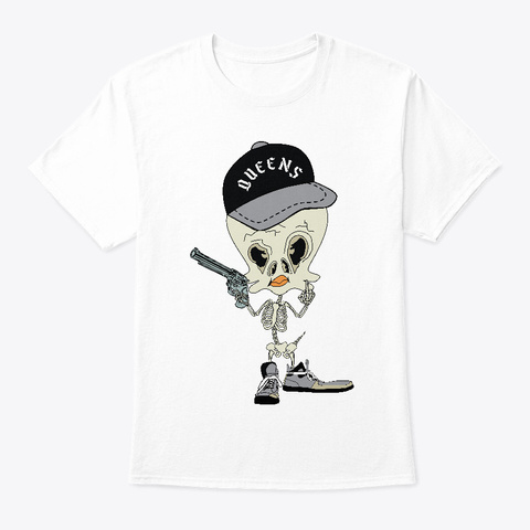 Queens Nyc Tee Short Sleeve White T-Shirt Front