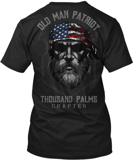 Thousand Palms Old Man Black T-Shirt Back