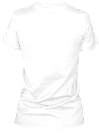 Hangry White T-Shirt Back