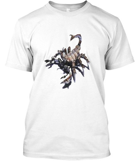 Scorpion 55 White T-Shirt Front