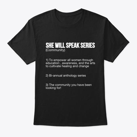 S.W.S.S Definiton Shirt  Black T-Shirt Front