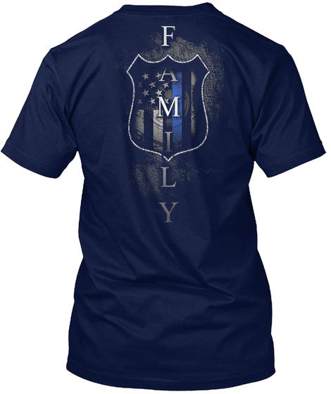 Police   Family Navy T-Shirt Back