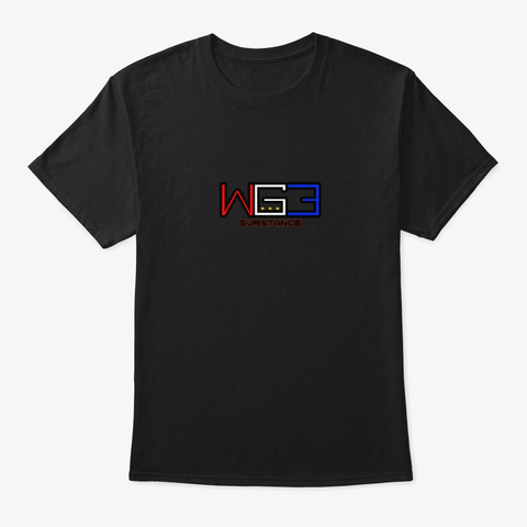 Wg3: Monday Night Substance T Shirt Black T-Shirt Front