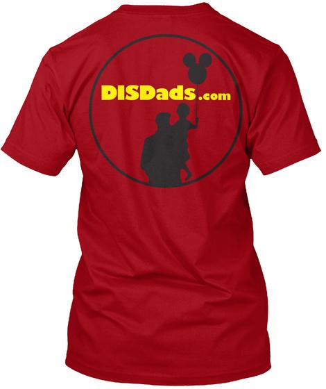 Disdads.Com Deep Red T-Shirt Back