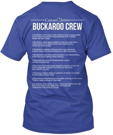 Buckaroo Crew Deep Royal T-Shirt Back