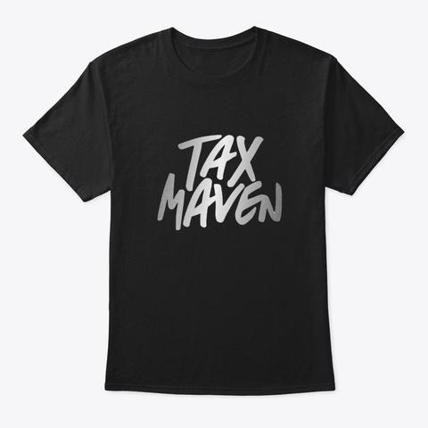 Tax Maven Tee Black T-Shirt Front