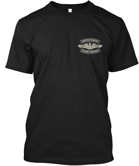 United States Silent Service Black T-Shirt Front