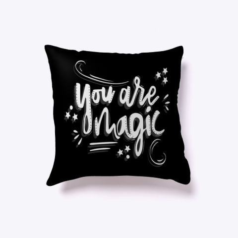 Indoor Pillow: Magic Black T-Shirt Front