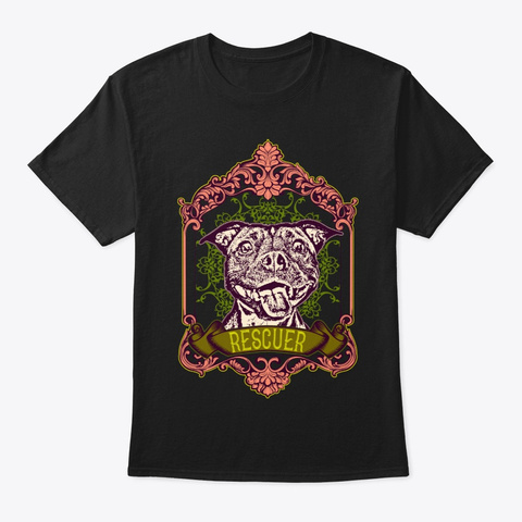 Staffy Rescuer Shirt Black T-Shirt Front