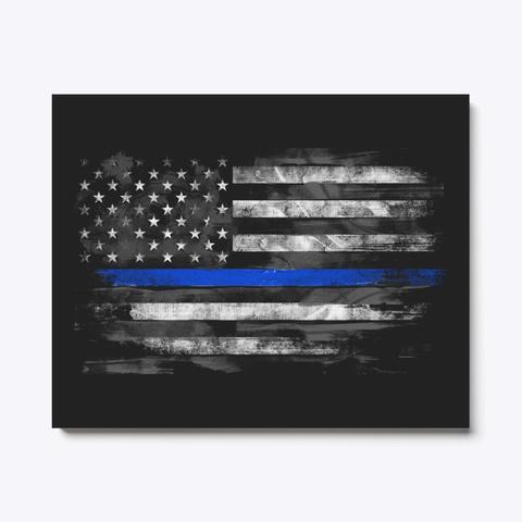Thin Blue Line Flag Canvas Standard Camiseta Front