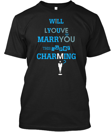 Will You Marry This Charming Man? Black T-Shirt Front