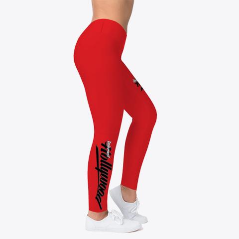 Ih Women's Leggings (Red) Red T-Shirt Right