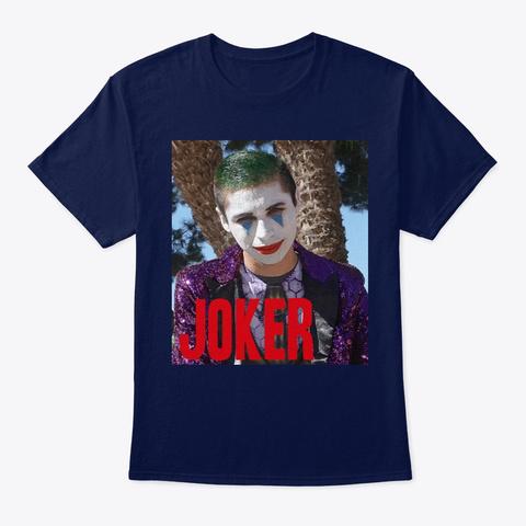 A Fan Art Of Jw Joker Navy T-Shirt Front