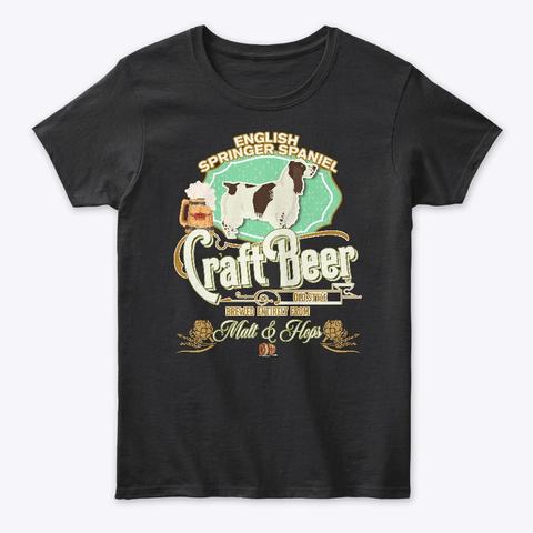 English Springer Spaniel Gifts Black T-Shirt Front