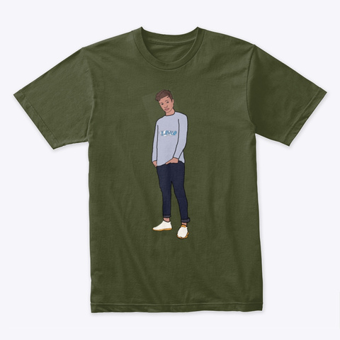 T Shirt (Lukas Renner) By Lev'co  Military Green T-Shirt Front